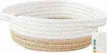 OYHOMO Cotton Rope Storage Basket Small Woven