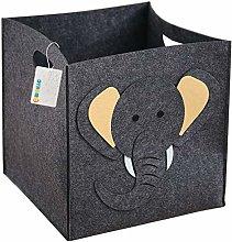 OYHOMO Felt Storage Box Collapsible Cube Cute