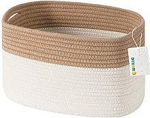 OYHOMO Large Cotton Rope Storage Basket Natural