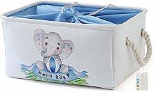 OYHOMO Large Fabric Storage Box Baby Boy Toy