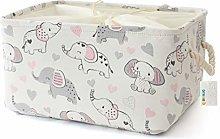 OYHOMO Large Fabric Storage Box Baby Nursery Toy