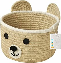 OYHOMO Small Basket Cotton Rope Storage Basket