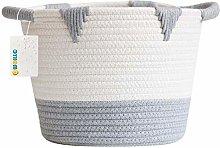 OYHOMO Small Storage Basket Cotton Rope Woven