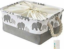 OYHOMO Storage Basket Foldable Grey Elephant