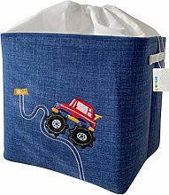 OYHOMO Thickened Canvas Fabric Storage Basket with