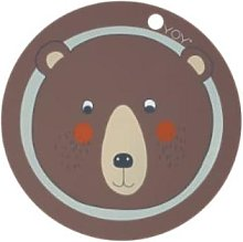 OYOY - Choco Bear Placemat - Silicone - Brown