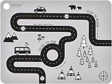 OYOY - Grey Adventure Placemat - Silicone - Grey