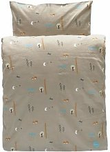 OYOY - Happy Forest Bedding - Light Brown - Baby