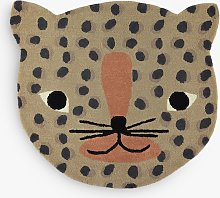 OYOY MINI Leopard Rug, Brown, L84 x W94cm