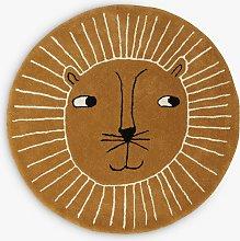 OYOY MINI Lion Rug, Brown, Dia.95cm