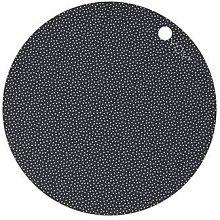 OYOY - Placemat Dot 2 Pcs Pack Dark Grey