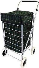 Oypla 4 Wheel Folding Shopping Mobility Trolley