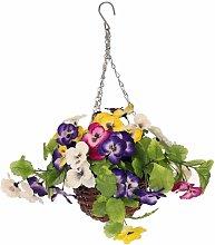 Oypla Artificial Garden Hanging Wicker Basket with