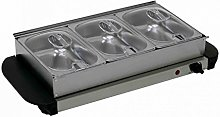Oypla Stainless Steel Electric 3 Pan Buffet Food