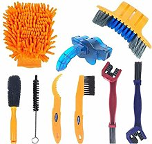 Oyria 9pcs/set Bike Cleaner Tool Kit Bicycle Chain