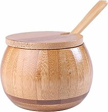 Oyria Bamboo Seasoning Jar, Bamboo Sugar Bowl with