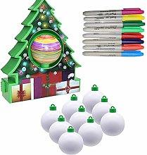 Oyria Christmas Ball Baubles Assorted Pendant