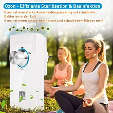 Ozone air purifier with outlet, Household ozone
