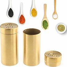 P Prettyia 2Pcs Salt Pepper Shakers Elegant Salt