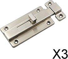 P Prettyia 3xHeavy Duty Door Slide Lock with 4