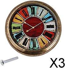 P Prettyia 3xVintage Clock Cabinet Door Drawer