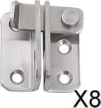 P Prettyia 8X Stainless Steel Hasp Cabinet Door