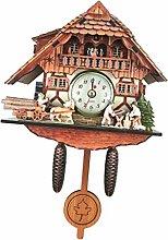 P Prettyia Birds Ornamental Cuckoo Clock with