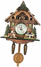 P Prettyia Birds Ornamental Cuckoo Clock with