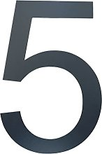 P Prettyia House Number Brushed Stainless Steel