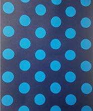 P+s - Blue Spots Polka Dots Wallpaper Circles