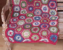 Pachamama Handmade Crochet Throw 100% Wool Chunky