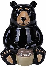 Pacific Giftware PT Black Bear Glossy Ceramic