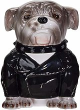 Pacific Giftware Rocker Bulldog Ceramic Cookie Jar