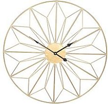 Pacific Lifestyle Champagne Gold Metal Wall Clock