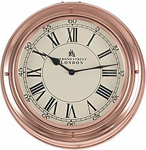 Pacific Lifestyle Glass Round Wall Clock, Shiny