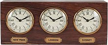 Pacific Lifestyle Oblong Desk Clock, Antq