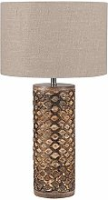 Pacific Lifestyle Table Lamp, Wood,Gold