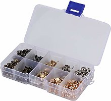 Pacifier Nail Slot Screws Set Brass Rivets Stud