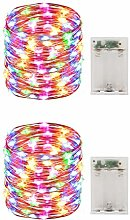 Pack 2 Mini Starry String Lights with