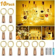 Pack of 10 25 LED Bottles 2.5m Warm White Light,