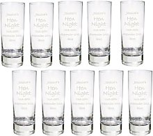 Pack of 10 Personalised Engraved Shot Glasses -