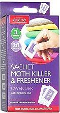 Pack of 100 Acana Moth Killer & Freshener Sachets