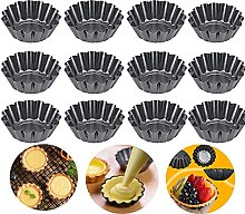 Pack of 12 Egg Cake Moulds, Cupcake Muffin Moulds,