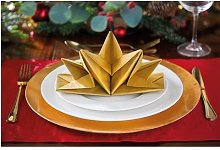 Pack Of 12 Pre-Folded Napkins Gold by Coopers of