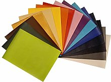 Pack of 16 A5 Sheets of PVC Textured Faux Leather