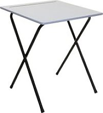 Pack of 2 Folding Exam Desks With Pencil Groove,