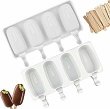 Pack of 2 Ice Lolly Moulds, Silicone Ice Cream