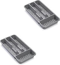 Pack of 2 Large Cutlery Tray Flatware Organiser