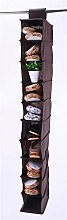 Pack of 2 Vinsani® 10 Section Hanging Shoe Rack