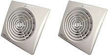 Pack of 2 x Envirovent SILENT-150HT Extractor Fan
